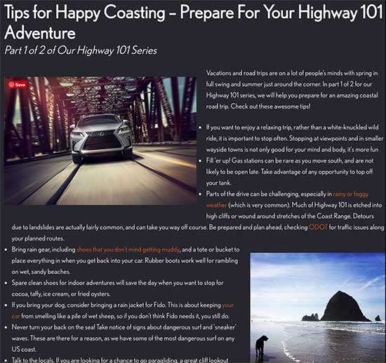 Kuni Lexus of Portland Blog - 5 Smart Social Media Lessons for Small Business from a Car Dealer