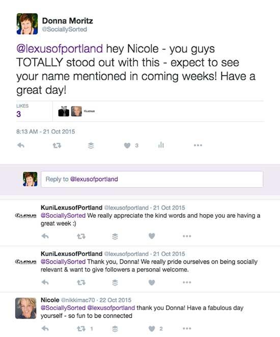 Kuni Lexus of Portland Twitter Post