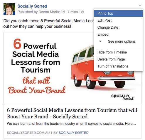 How to Pin an Image to Facebook - 7 Ways to Effortlessly Drive More Blog Readers with Visuals