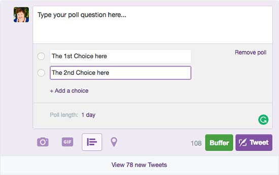 Conduct a poll on Twitter - 19 Ways to Survey Your Audience
