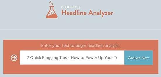Co Schedule Headline Analyzer - 7 Quick Blogging Tips
