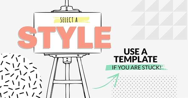 Use a template to create a consistent style (click to see Infographic)