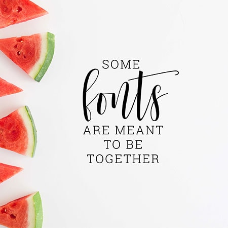 Some fonts are meant to be together - Beginner's Guide to Creating Images