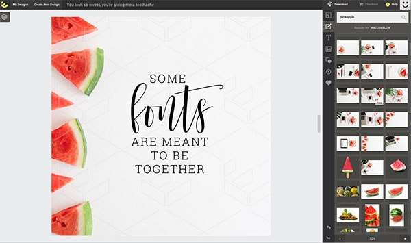 Some fonts are meant to be together - Beginner's Guide to Creating Images for Social Media