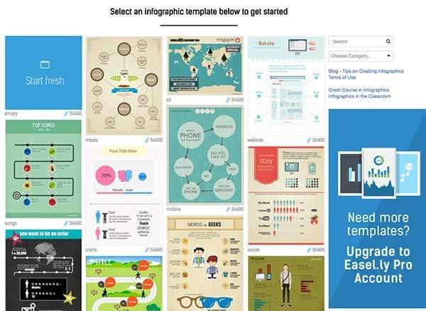 Easel.ly Infographic template options -