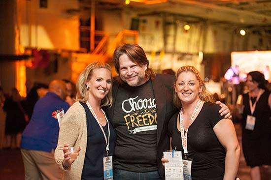 Chris Brogan and friends at Social Media Marketing World - Social Media Marketing World 2017 why you should attend