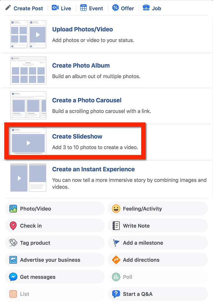 Facebook Slideshow: How to Make a Slideshow on Facebook