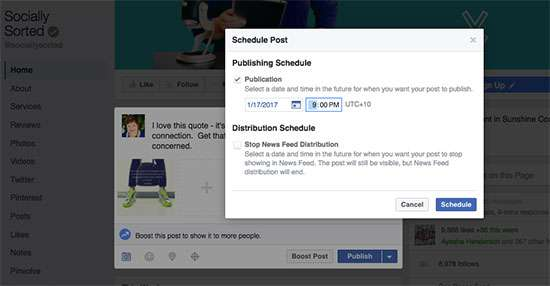 Facebook Scheduling Tool - add time - 11 Top Social Media Management Tools for Business I Can't Live Without