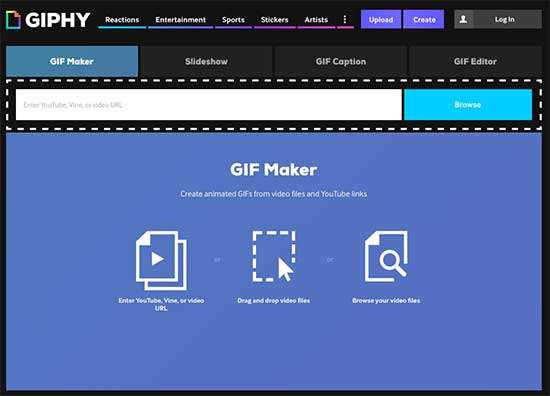 Create Your own GIF with a video link on Giphy - How to Create Animated GIFs that Stand Out