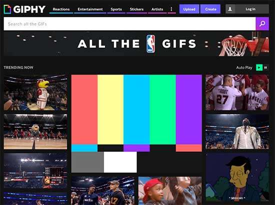 Search for GIFs on Giphy