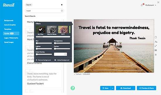 Stencil Extension - 21 Top Google Chrome Extensions for Social Media Marketers