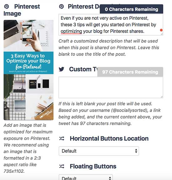Use Social Warfare to optimize your blog for Pinterest