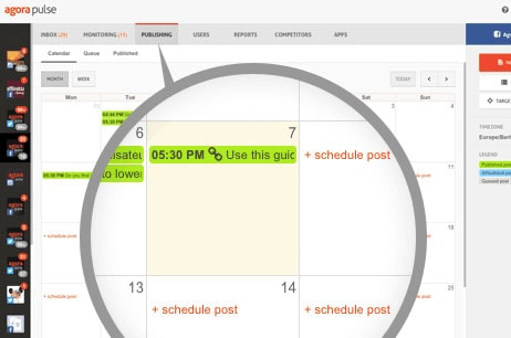 Calendar view for publishing content on Agorapulse - 12 Reasons Why I Love Agorapulse for Social Media Management