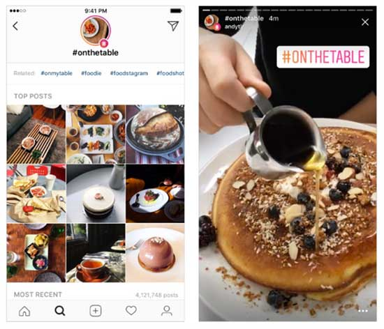 How to Add Instagram Location Stories to Attract Attention - Instagram Hashtag stories example