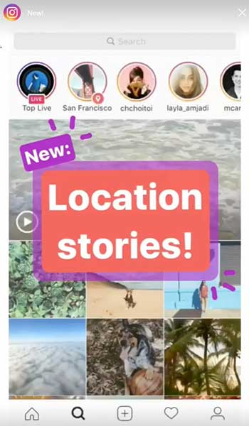 Location Instagram Stories are easy to find