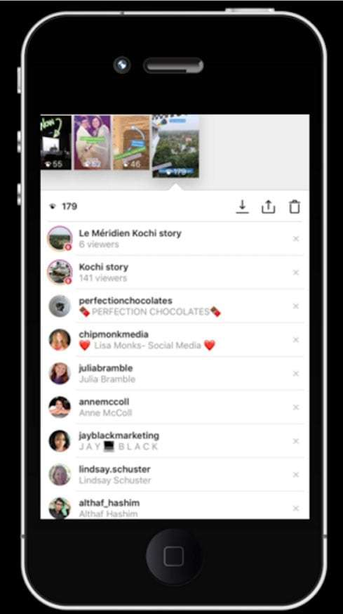 Instagram Location Stories - example of location stories