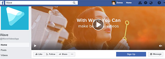 Animatron Wave Facebook Cover Video - 7 Creative Facebook Cover Videos