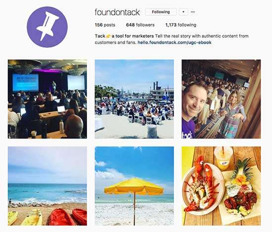 Found on Tack helps you curate and get rights to use User-Generated Content on Instagram