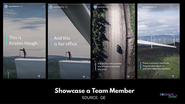 Instagram Stories for Business - Showcase Your Team - GE