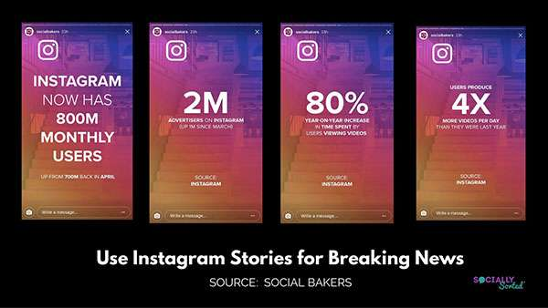 Social Bakers shares news - Instagram Stories for Business