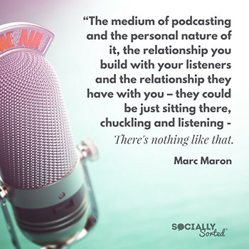 The medium of podcasting by Marc Maron - 5 Top Social Media Podcasts Every Marketer Should Listen To