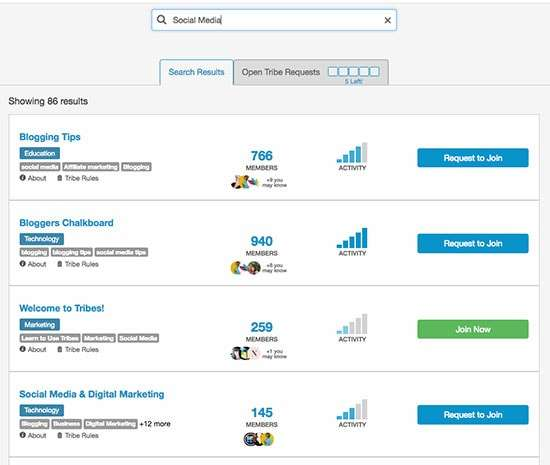 Find Tailwind Tribes by searching with keywords
