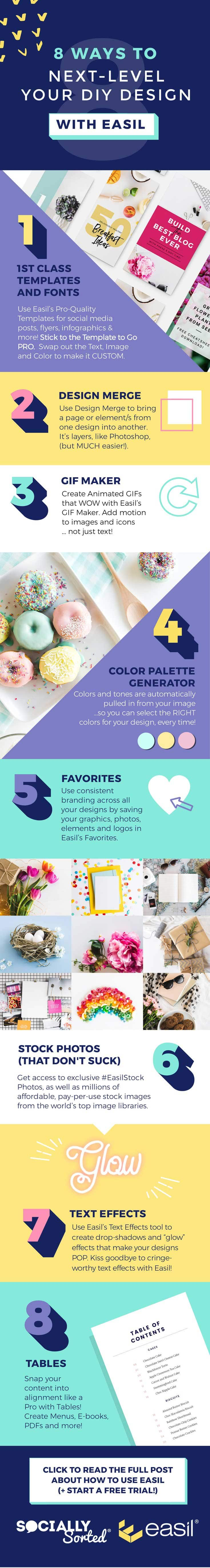 How to Use Easil to Next-Level Your DIY Design - This Infographic Shares 8 Ways You Can Use Easil For DIY Design (that's So Good It Looks Like A Pro Designed It)