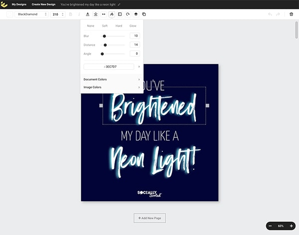 Text Effects tool in Easil's Dashboard - How To Use Easil For DIY Design (that's So Good It Looks Like A Pro Designed It)