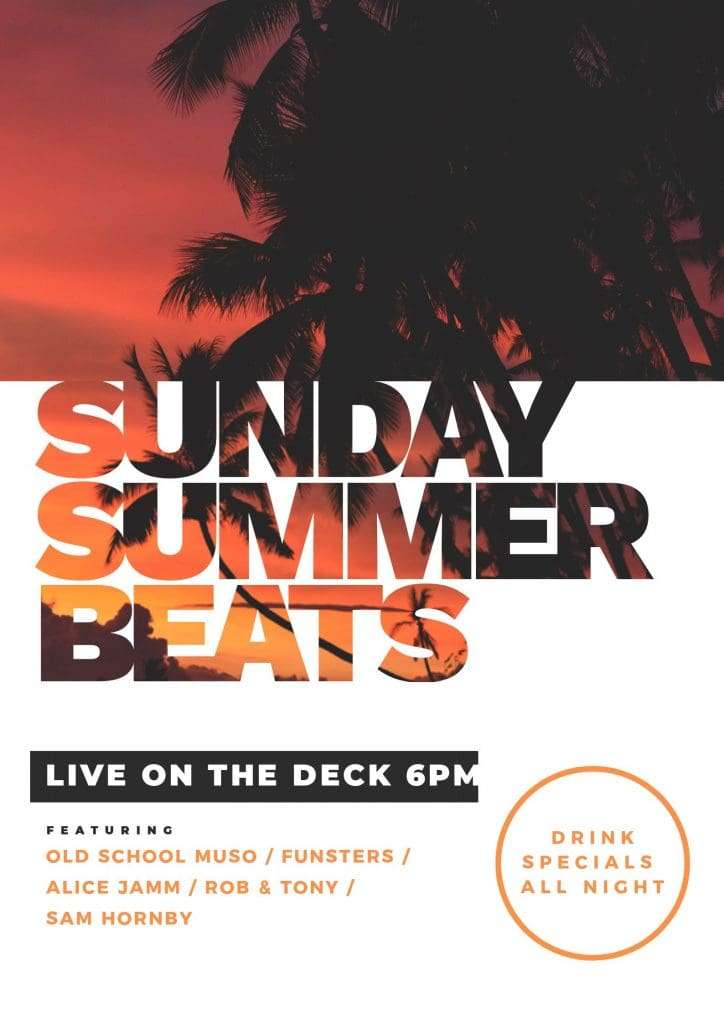 Summer Beats Poster - Text Mask Design in Easil