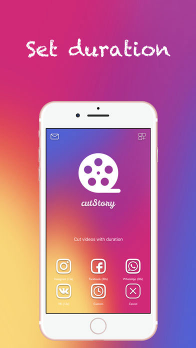 Cut Story App - Set the duration of your videos for Instagram Posts or Instagram Stories