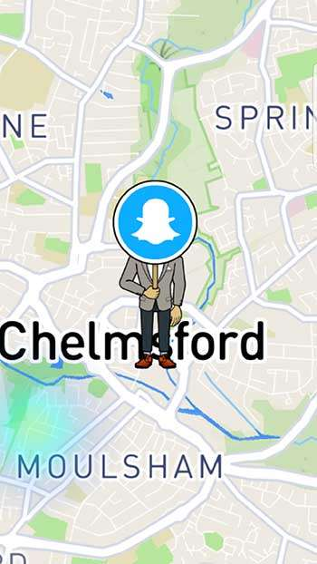 Example of Snap Maps on Snapchat - Snapchat Beginner's Guide: How to Get Started with Snapchat Marketing