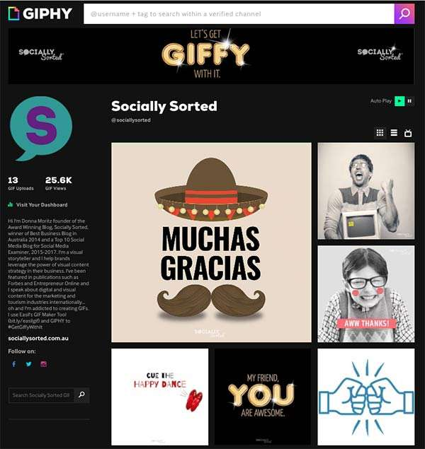 Socially Sorted TV Channel on Giphy