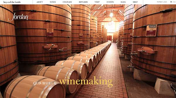 Jordan Winery Website