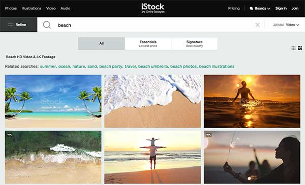 istock photo search - How To Select The Best Stock Footage To Create Compelling Visuals For Social Media