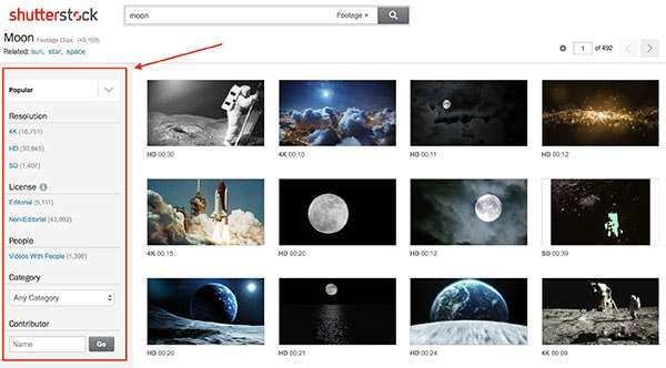 Shutterstock search - How To Select The Best Stock Footage To Create Compelling Visuals For Social Media