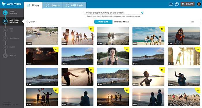 Wave stock footage search mixed people on beach - How To Select The Best Stock Footage To Create Compelling Visuals For Social Media
