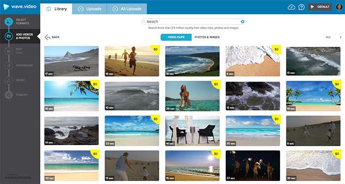 Wave Search Beach Stock Footage - How To Select The Best Stock Footage To Create Compelling Visuals For Social Media