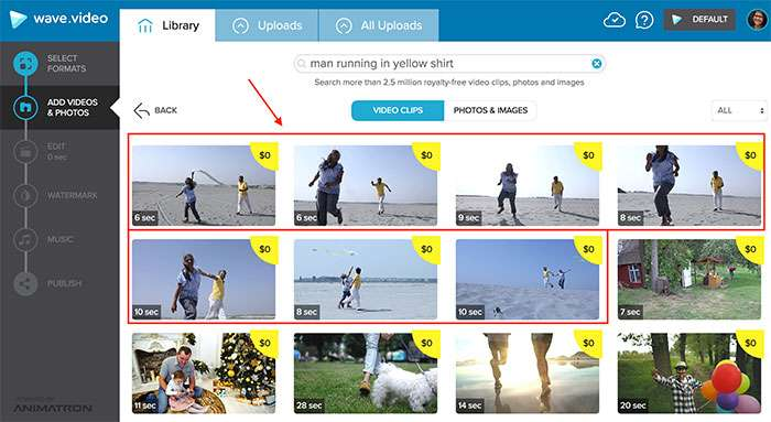 Wave stock image man running on beach - How To Select The Best Stock Footage To Create Compelling Visuals For Social Media
