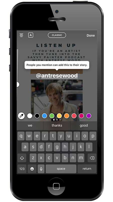 5 Winning Instagram Story Templates For Engagement - tagging in Instagram Stories using Easil Instagram Story Template