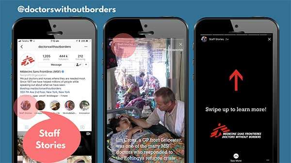 Doctors without Borders on Instagram - 3 Engaging Ways to Rethink Your Social Video Strategy