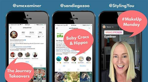 Social Media Examiner, San Diego Zoo and Styling You Instagram Story Playlists with Highlights - How to Hook Us with Serial Video Content We Can't Stop Watching
