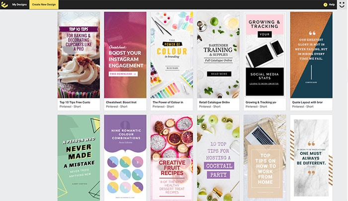 Pinterest Templates on Easil - 7 Top Pinterest Tools for Business to Use Right Now!