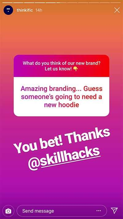 Thinkific Question Sticker Example - How To Make A Poll On Instagram Stories (That Engages Us To Action)