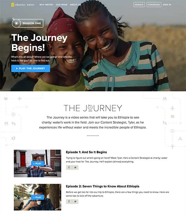 The Journey by Charity Water - How to Hook Us with Serial Video Content We Can't Stop Watching