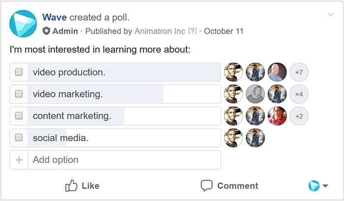 Create a poll to survey your audience - How to Find Video Content Ideas When You're Stuck