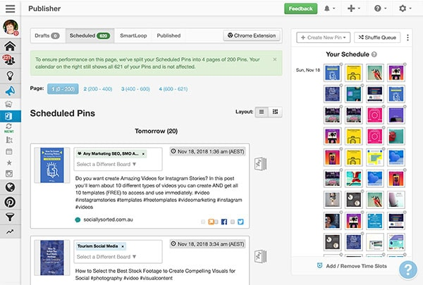 Scheduled Pins in Tailwind - How to use Tailwind App for Better Pinterest Marketing Results