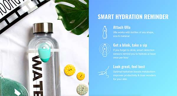 Ulla Smart Hydration Reminder For Waterbottles