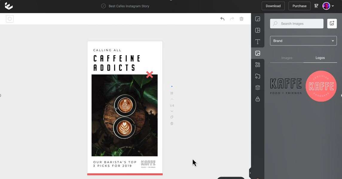 Adding Brand Logo in Easil - 9 Best Instagram Tools for Visual Storytelling