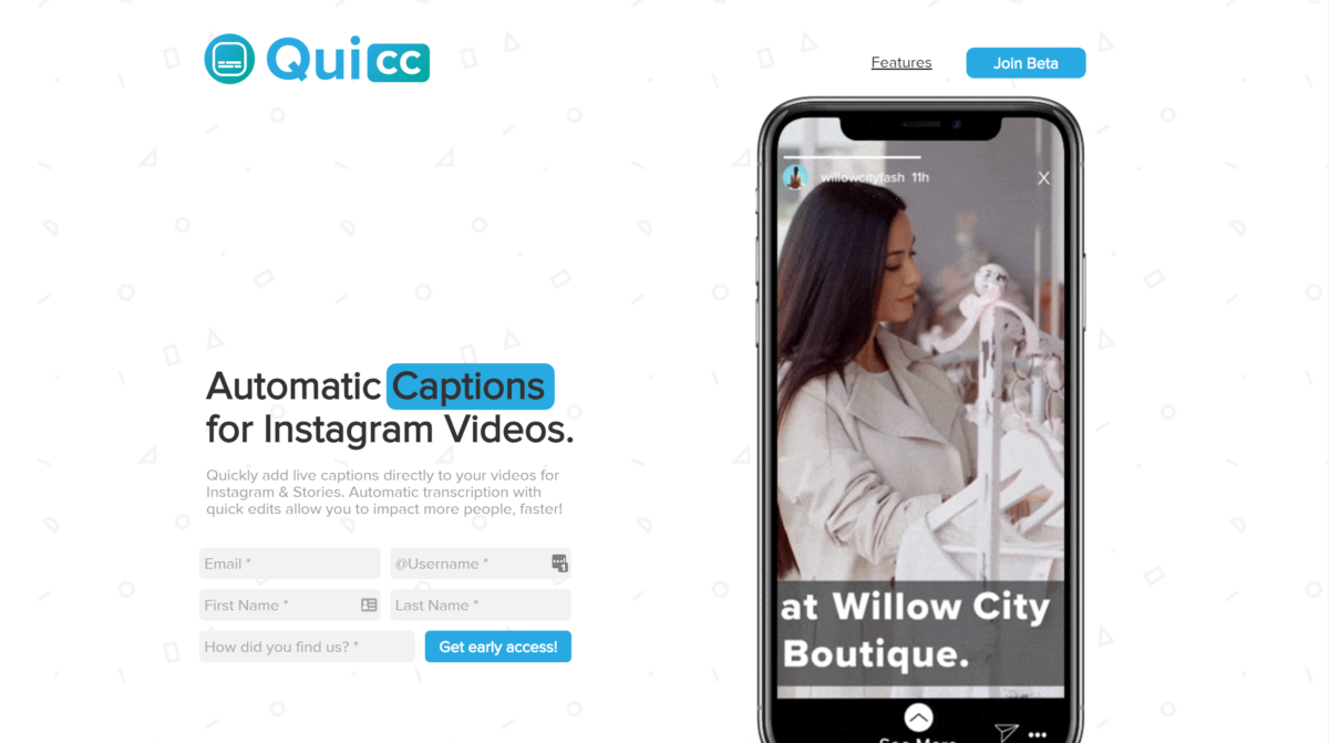 Quicc tool for captioning videos - 9 Best Instagram Tools for Visual Storytelling