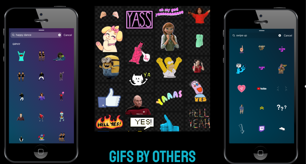 Sharing GIFs to Instagram Stories from Giphy